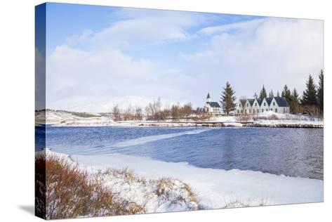 Thingvallabaer and Church by the River Oxara, Thingvellir National Park, Iceland-Neale Clark-Stretched Canvas Print