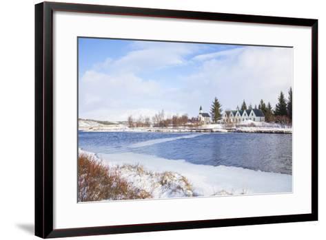 Thingvallabaer and Church by the River Oxara, Thingvellir National Park, Iceland-Neale Clark-Framed Art Print