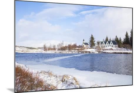 Thingvallabaer and Church by the River Oxara, Thingvellir National Park, Iceland-Neale Clark-Mounted Photographic Print