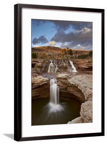 Secret Falls in the Fall, Washington County, Utah, United States of America, North America-James Hager-Framed Art Print