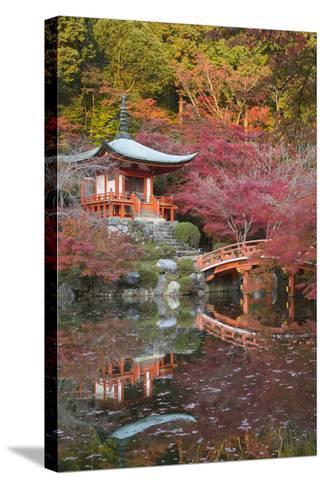 Japanese Temple Garden in Autumn, Daigoji Temple, Kyoto, Japan-Stuart Black-Stretched Canvas Print