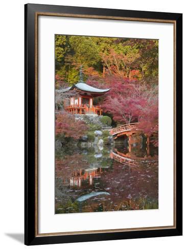 Japanese Temple Garden in Autumn, Daigoji Temple, Kyoto, Japan-Stuart Black-Framed Art Print