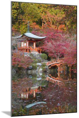 Japanese Temple Garden in Autumn, Daigoji Temple, Kyoto, Japan-Stuart Black-Mounted Photographic Print