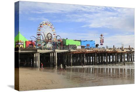 Santa Monica Pier, Pacific Park, Santa Monica, Los Angeles, California, Usa-Wendy Connett-Stretched Canvas Print