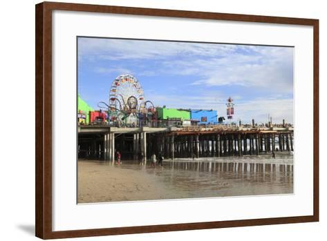 Santa Monica Pier, Pacific Park, Santa Monica, Los Angeles, California, Usa-Wendy Connett-Framed Art Print