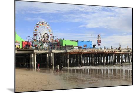 Santa Monica Pier, Pacific Park, Santa Monica, Los Angeles, California, Usa-Wendy Connett-Mounted Photographic Print