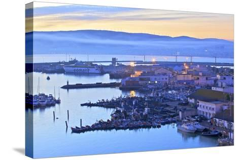 The Harbour at Dawn, Tangier, Morocco, North Africa, Africa-Neil Farrin-Stretched Canvas Print