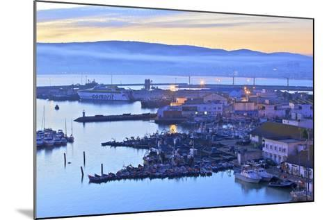 The Harbour at Dawn, Tangier, Morocco, North Africa, Africa-Neil Farrin-Mounted Photographic Print