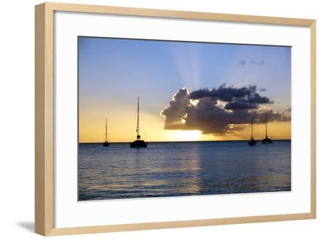 Sunset, St. Kitts and Nevis, Leeward Islands, West Indies, Caribbean, Central America-Robert Harding-Framed Art Print