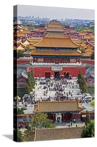 The Forbidden City in Beijing Looking South Taken from the Viewing Point of Jingshan Park-Gavin Hellier-Stretched Canvas Print