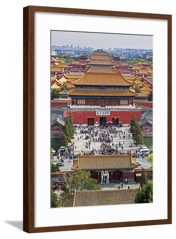 The Forbidden City in Beijing Looking South Taken from the Viewing Point of Jingshan Park-Gavin Hellier-Framed Art Print
