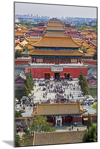 The Forbidden City in Beijing Looking South Taken from the Viewing Point of Jingshan Park-Gavin Hellier-Mounted Photographic Print