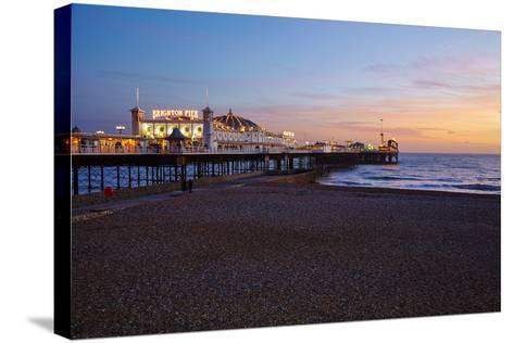 Brighton Pier, Brighton, Sussex, England, United Kingdom, Europe-Mark Mawson-Stretched Canvas Print