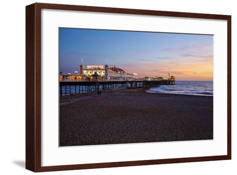 Brighton Pier, Brighton, Sussex, England, United Kingdom, Europe-Mark Mawson-Framed Art Print