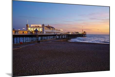 Brighton Pier, Brighton, Sussex, England, United Kingdom, Europe-Mark Mawson-Mounted Photographic Print