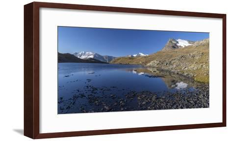 Panorama of Levanne Mountains and Aiguille Rousse at Sunrise-Roberto Moiola-Framed Art Print