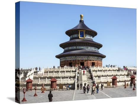 Hall of Prayer for Good Harvests, Temple of Heaven (Tian Tan), Beijing, China-Gavin Hellier-Stretched Canvas Print