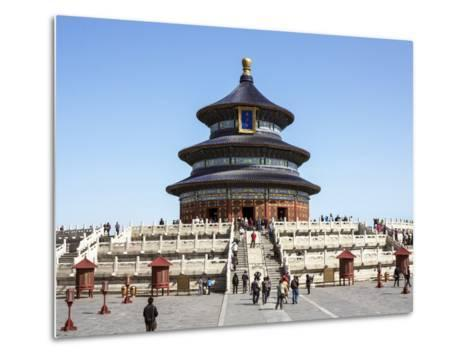 Hall of Prayer for Good Harvests, Temple of Heaven (Tian Tan), Beijing, China-Gavin Hellier-Metal Print