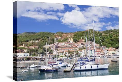 Harbour, Rio Marina, Island of Elba, Livorno Province, Tuscany, Italy, Mediterranean-Markus Lange-Stretched Canvas Print