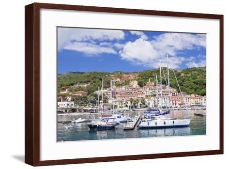 Harbour, Rio Marina, Island of Elba, Livorno Province, Tuscany, Italy, Mediterranean-Markus Lange-Framed Art Print
