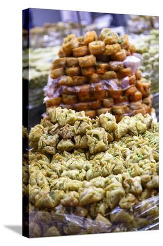 Baklava, an Arab Sweet Pastry at a Shop in the Old City, Jerusalem, Israel, Middle East-Yadid Levy-Stretched Canvas Print