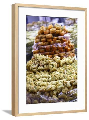Baklava, an Arab Sweet Pastry at a Shop in the Old City, Jerusalem, Israel, Middle East-Yadid Levy-Framed Art Print