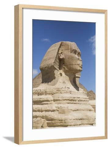 Sphinx, the Giza Pyramids, Giza, Egypt, North Africa, Africa-Richard Maschmeyer-Framed Art Print
