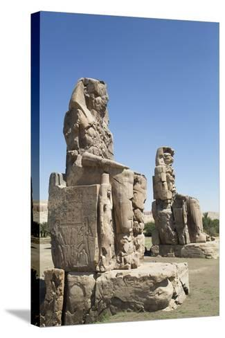 Colossi of Memnon, West Bank, Thebes, Egypt, North Africa, Africa-Richard Maschmeyer-Stretched Canvas Print