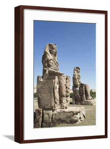 Colossi of Memnon, West Bank, Thebes, Egypt, North Africa, Africa-Richard Maschmeyer-Framed Art Print