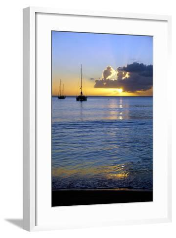 Sunset, St. Kitts and Nevis, Leeward Islands, West Indies, Caribbean, Central America-Robert Harding-Framed Art Print