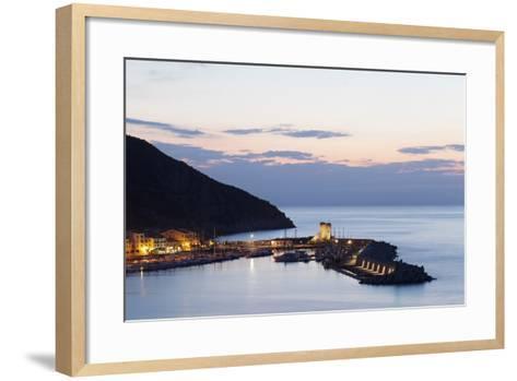 Port of Marciana Marina with Torre Pisana Tower-Markus Lange-Framed Art Print