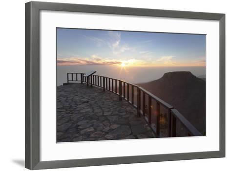 View from Mirador De Igualero over Barranco Del Erque to Table Mountain Fortaleza-Markus Lange-Framed Art Print
