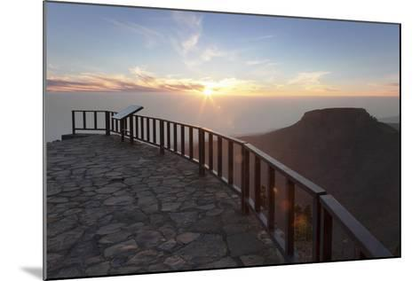 View from Mirador De Igualero over Barranco Del Erque to Table Mountain Fortaleza-Markus Lange-Mounted Photographic Print