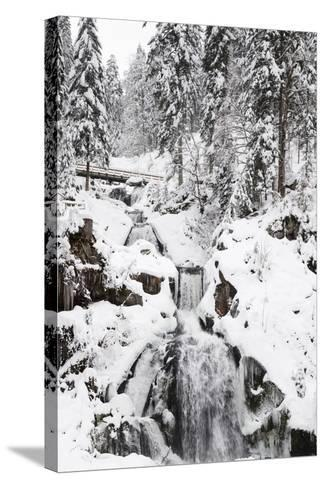 Triberg Waterfalls in Winter, Triberg, Black Forest, Baden-Wurttemberg, Germany, Europe-Markus Lange-Stretched Canvas Print