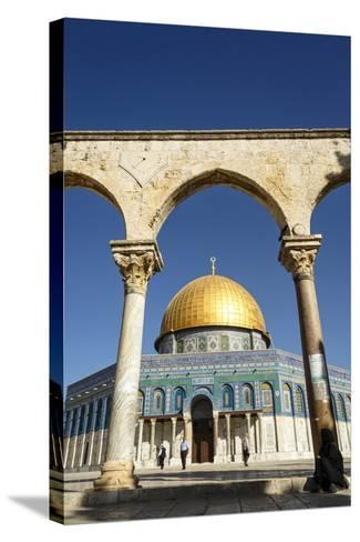 Dome of the Rock Mosque, Temple Mount, UNESCO World Heritage Site, Jerusalem, Israel, Middle East-Yadid Levy-Stretched Canvas Print