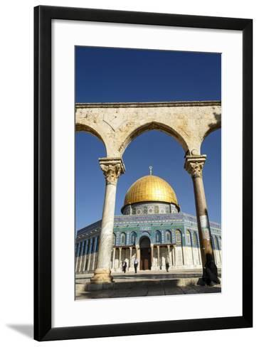 Dome of the Rock Mosque, Temple Mount, UNESCO World Heritage Site, Jerusalem, Israel, Middle East-Yadid Levy-Framed Art Print