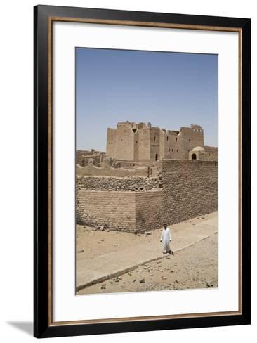 Monastery of St. Simeon, Founded in the 7th Century, Aswan, Egypt, North Africa, Africa-Richard Maschmeyer-Framed Art Print