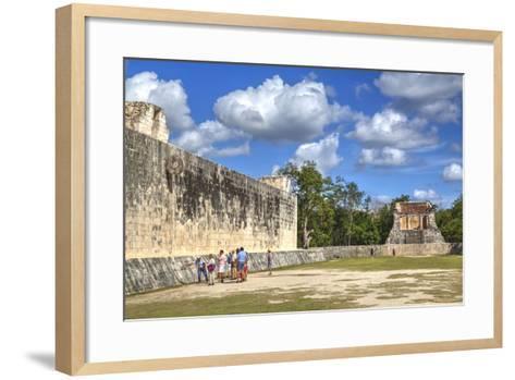 Tourists with Guide, the Grand Ball Courrt (Gran Juego De Pelota), Chichen Itza-Richard Maschmeyer-Framed Art Print