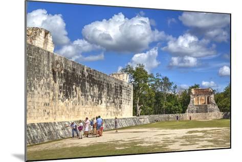 Tourists with Guide, the Grand Ball Courrt (Gran Juego De Pelota), Chichen Itza-Richard Maschmeyer-Mounted Photographic Print