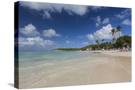Dickinson Bay Overlooking the Caribbean Sea, Antigua, Leeward Islands, West Indies-Roberto Moiola-Stretched Canvas Print