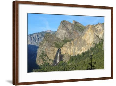 Cathedral Rocks East and Bridalveil Fall from Tunnel View in Yosemite National Park-Chris Hepburn-Framed Art Print