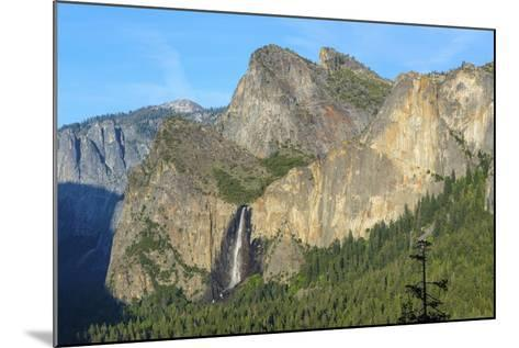 Cathedral Rocks East and Bridalveil Fall from Tunnel View in Yosemite National Park-Chris Hepburn-Mounted Photographic Print