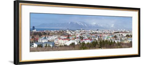 Panoramic View across the City of Reykjavik, Iceland, Polar Regions-Chris Hepburn-Framed Art Print