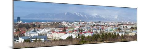 Panoramic View across the City of Reykjavik, Iceland, Polar Regions-Chris Hepburn-Mounted Photographic Print