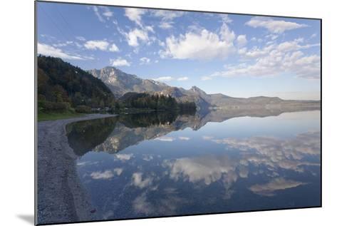 Heimgarten Mountain and Herzogstand Mountain Reflecting in Kochelsee Lake, Bavarian Alps-Markus Lange-Mounted Photographic Print