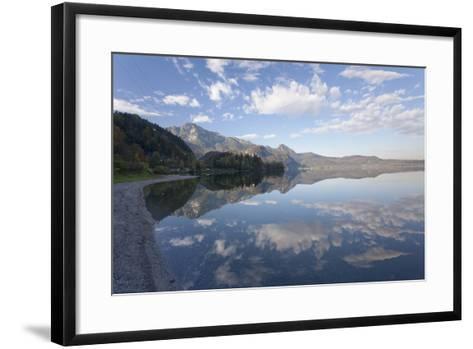 Heimgarten Mountain and Herzogstand Mountain Reflecting in Kochelsee Lake, Bavarian Alps-Markus Lange-Framed Art Print