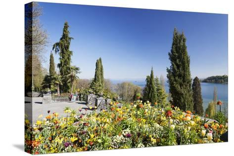 Mainau Island in Spring, View over Lake Constance to the Alps, Baden-Wurttemberg, Germany, Europe-Markus Lange-Stretched Canvas Print