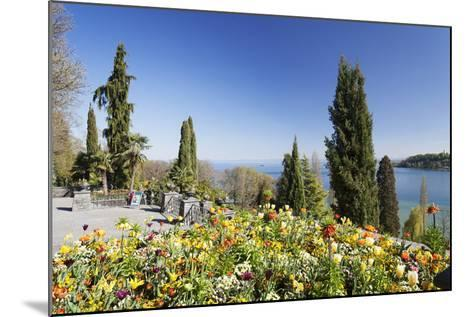 Mainau Island in Spring, View over Lake Constance to the Alps, Baden-Wurttemberg, Germany, Europe-Markus Lange-Mounted Photographic Print