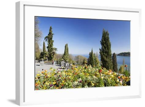 Mainau Island in Spring, View over Lake Constance to the Alps, Baden-Wurttemberg, Germany, Europe-Markus Lange-Framed Art Print