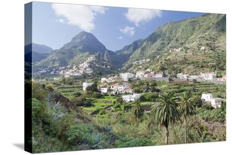 Hermigua, Roques De San Pedro Rock, Terraecd Fields, La Gomera, Canary Islands, Spain, Europe-Markus Lange-Stretched Canvas Print